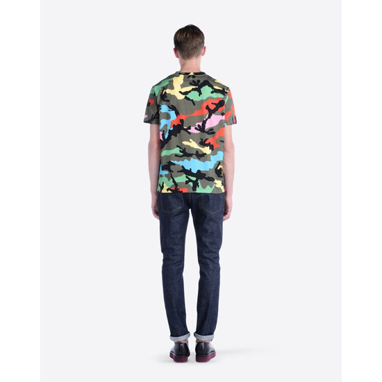 VALENTINO T-SHIRT WITH CAMOUFLAGE PRINT IV0MG00W2J4 P00 Outlet Online