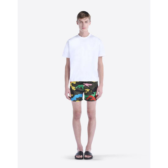 VALENTINO CAMOUFLAGE-PRINTED SWIM SHORTS IV0UH025290 F80 Outlet Online