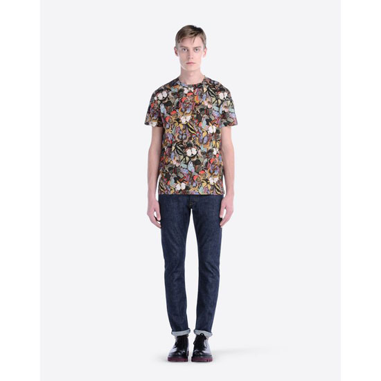 VALENTINO T-SHIRT WITH CAMUBUTTERFLY PRINT IV0MG00P2G6 E20 Outlet Online