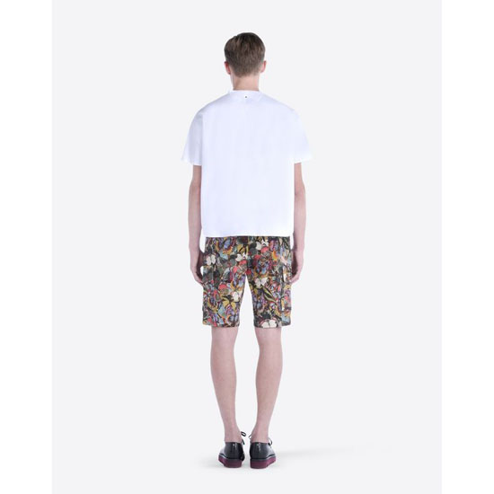 VALENTINO COTTON PRINTED BERMUDA SHORTS IV0RDG4029W E20 Outlet Online