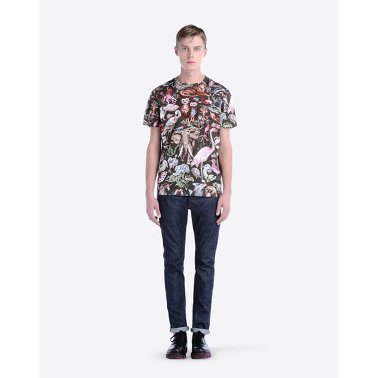 VALENTINO T-SHIRT WITH ANIMALI FANTASTICI PRINT IV0MG01Q2GS 825 Outlet Online