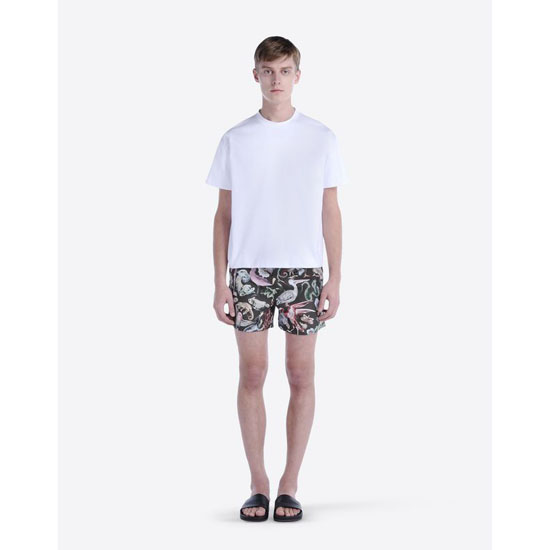 VALENTINO ANIMALI FANTASTICI-PRINTED SWIM SHORTS IV0UH0252BE FQ0 Outlet Online