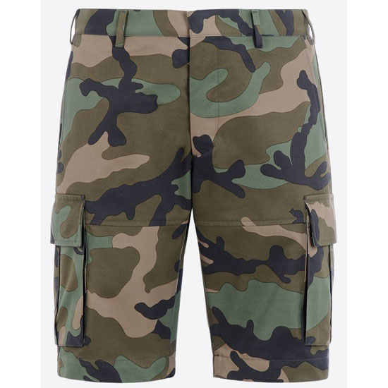 VALENTINO COTTON PRINTED BERMUDA SHORTS IV0RDG40293 F00 Outlet Online