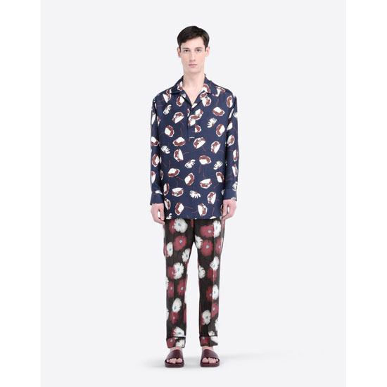 VALENTINO SILK SHANTUNG PAJAMA PANTS IV0RBG85294 FH0 Outlet Online