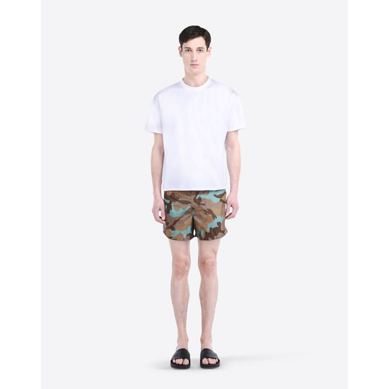 VALENTINO CAMOUFLAGE-PRINTED SWIM SHORTS IV0UH025290 F20 Outlet Online