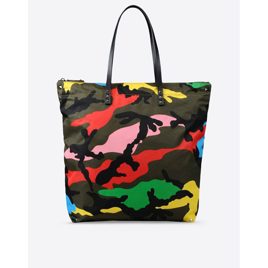 VALENTINO NYLON CAMOUFLAGE TOTE IY0B0445NE5 A12 Outlet Online