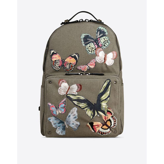 VALENTINO CAMUBUTTERFLY EMBROIDERY BACKPACK IY0B0340CNV Y20 Outlet Online