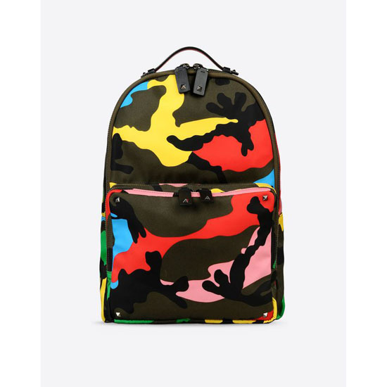 VALENTINO NYLON CAMOUFLAGE BACKPACK IY0B0340NE5 A12 Outlet Online