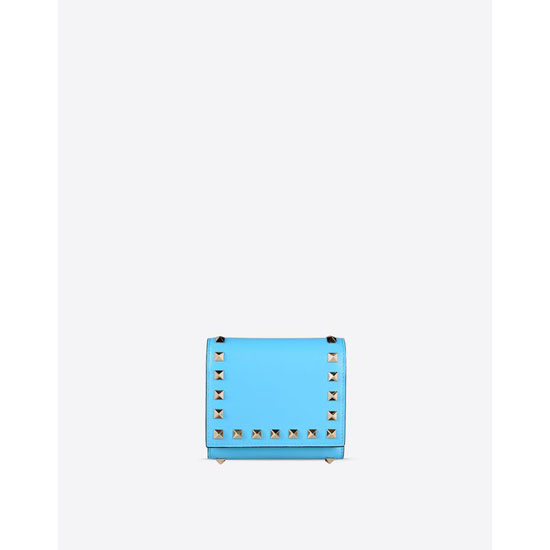 VALENTINO ROCKSTUD TRIFOLD WALLET IW2P0455BOL O98 Outlet Online