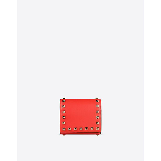 VALENTINO ROCKSTUD TRIFOLD WALLET IW2P0455BOL F28 Outlet Online