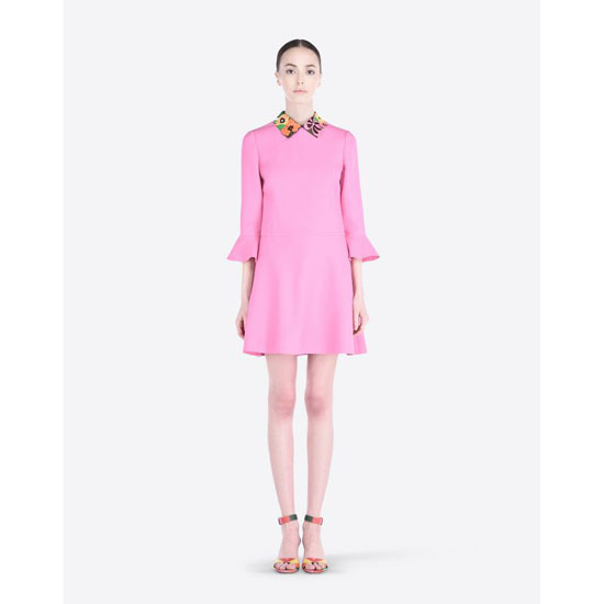 VALENTINO CREPE COUTURE DRESS IB3VA0H01CF N50 Outlet Online