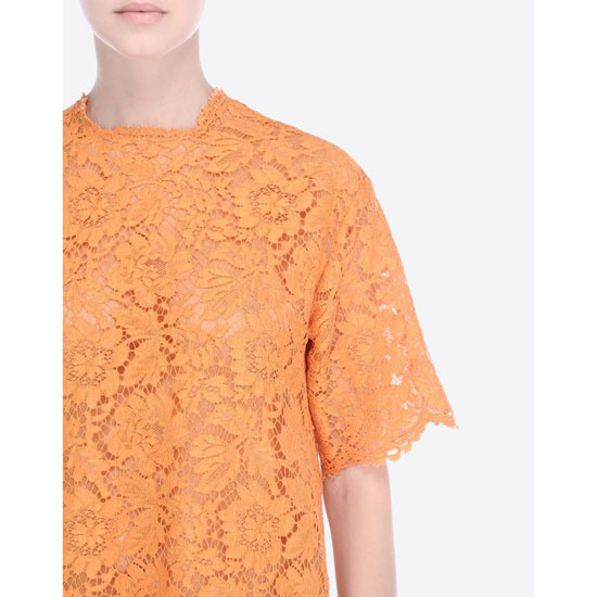 VALENTINO HEAVE LACE SHORT SLEEVE TUNIC IB3AE0951EC 406 Outlet Online