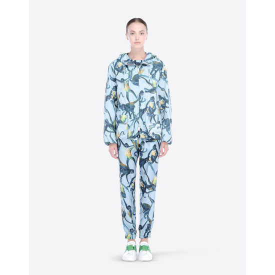 VALENTINO NYLON WINDBREAKER WITH SPIDER MONKEYS PRINT IBCCE00D1MU ED0 Outlet Online