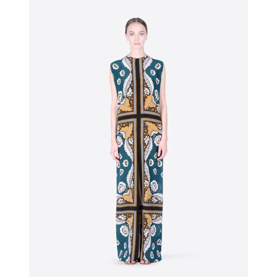 VALENTINO DRESS IN PATCHWORK CREPE DE CHINE IB0VE0351TN M14 Outlet Online