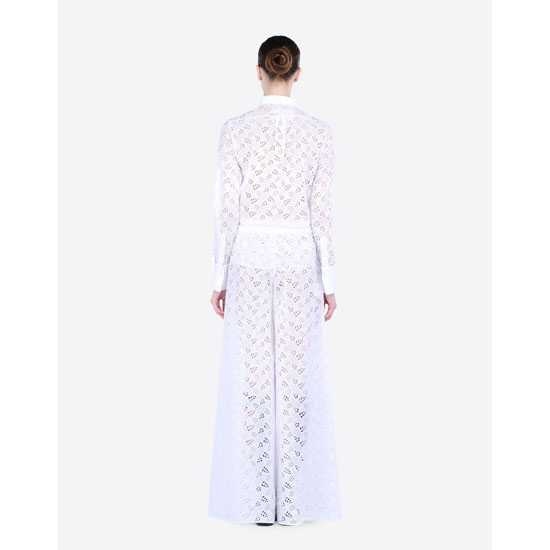 VALENTINO TROUSERS IN BRODERIE ANGLAISE LACE IB0RB0A01VJ 0BO Outlet Online