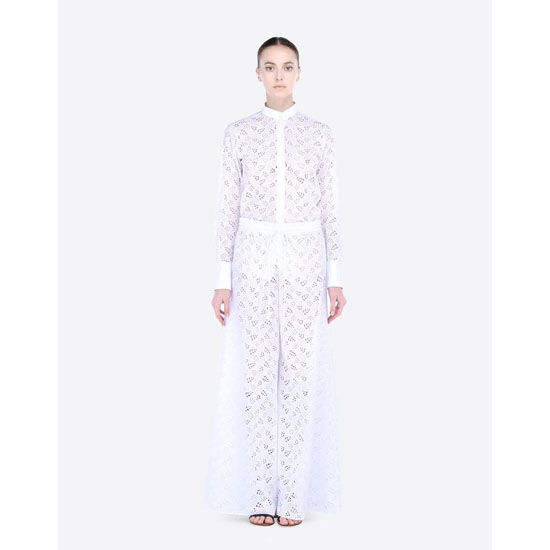 VALENTINO SHIRT IN BRODERIE ANGLAISE LACE IB0AB01L1VJ 0BO Outlet Online