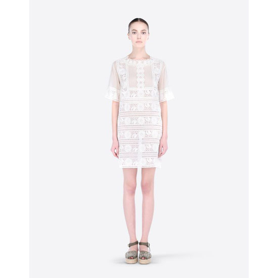 VALENTINO DRESS IN BRODERIE ANGLAISE IB3VA1701PS 0NE Outlet Online