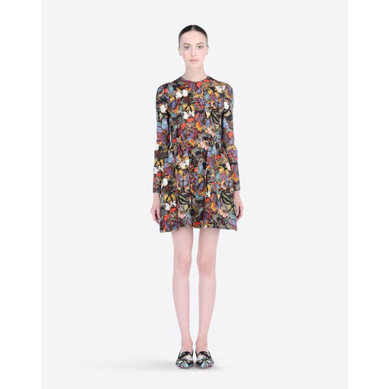 VALENTINO CAMU BUTTERFLY CREPE COUTURE DRESS HB3VS11S-V40871B M00 Outlet Online