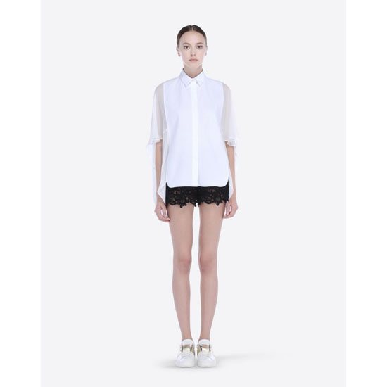 VALENTINO GUIPURE ARABESQUE SHORTS IB3RF0001MT 0NO Outlet Online