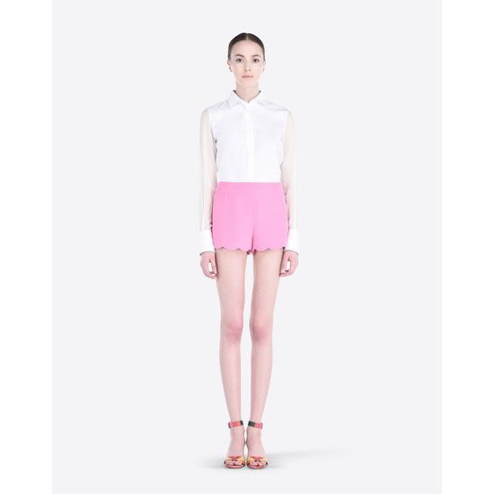 VALENTINO CADY SHORTS WITH SCALLOPED BOTTOM IB3RF0101MM N50 Outlet Online