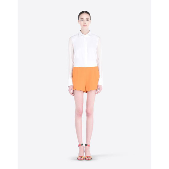 VALENTINO CADY SHORTS WITH SCALLOPED BOTTOM IB3RF0101MM 406 Outlet Online