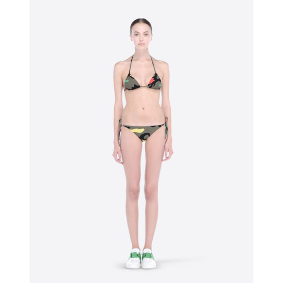 VALENTINO CAMUPSYCHEDELIC TRIANGLE BIKINI IB3UI00B1RT F80 Outlet Online