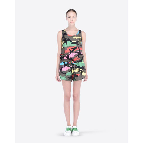 VALENTINO CAMUPSYCHEDELIC TWILL ROMPER IB3UD00A1RS F80 Outlet Online