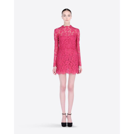 VALENTINO HEAVY LACE DRESS HB3VS1Y5-V7C264B 247 Outlet Online