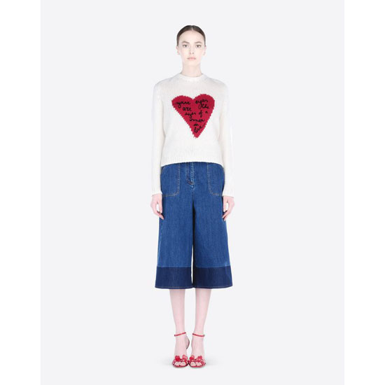 VALENTINO BERMUDA SHORTS IN TWO-COLOUR DENIM JB3DD01C1YF 600 Outlet Online