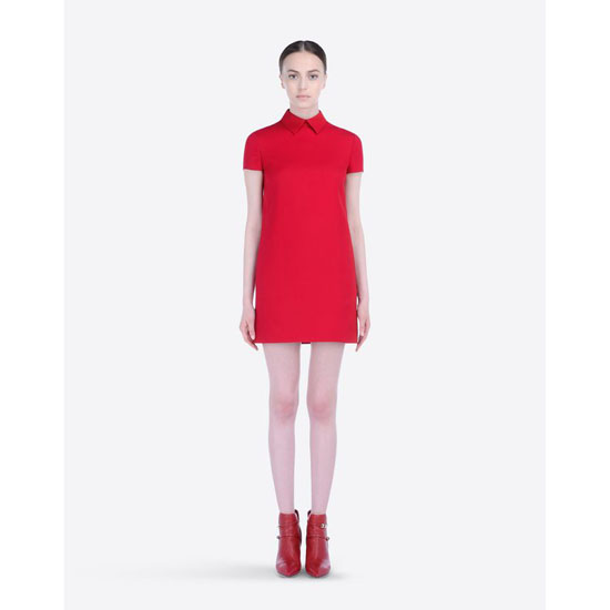 VALENTINO RED DRESS IN CREPE COUTURE HB2VS8P9-V12389B 217 Outlet Online