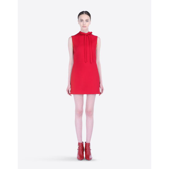 VALENTINO RED DRESS IN CREPE COUTURE HB2VS8P7-V12389B 217 Outlet Online