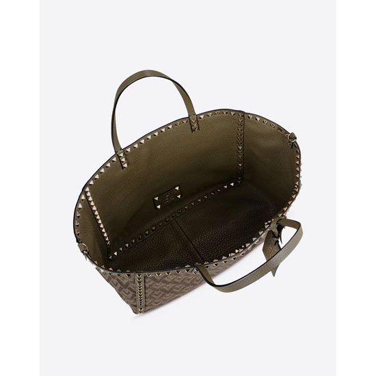 VALENTINO ROCKSTUD DOUBLE MEDIUM TOTE IW0B0626LCB Y20 Outlet Online