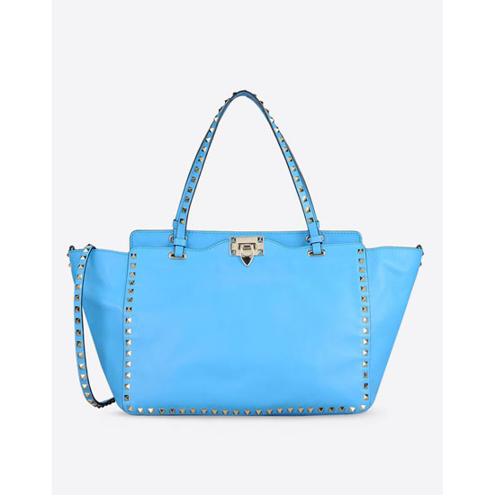 VALENTINO ROCKSTUD MEDIUM TOTE IW2B0970BOL-O98 Outlet Online