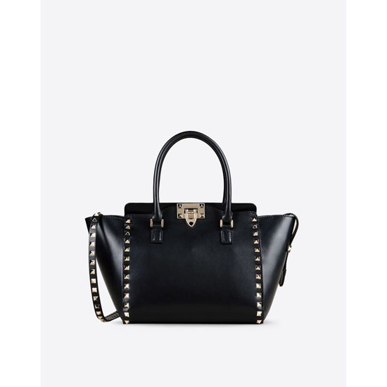 VALENTINO ROCKSTUD SMALL DOUBLE HANDLE BAG IW0B0540BOL 0NO Outlet Online