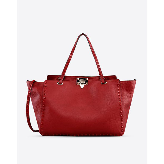VALENTINO ROCKSTUD ROUGE TOTE GWB00970-AVFL01 0RO Outlet Online