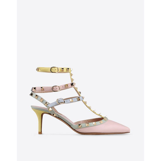VALENTINO WATERCOLOR ROCKSTUD ANKLE STRAP IW0S0375WST W36 Outlet Online