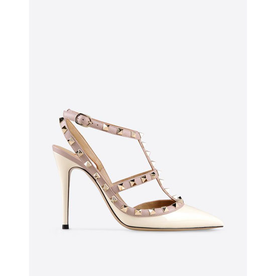 VALENTINO ROCKSTUD ANKLE STRAP IW2S0393VNW L62 Outlet Online