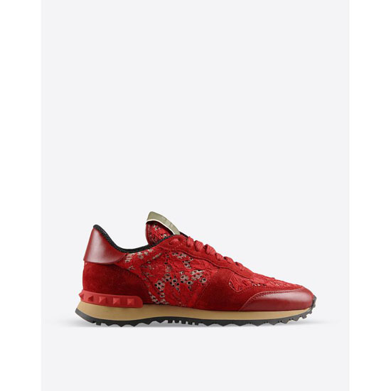VALENTINO ROCKRUNNER IN MACRAM脡 LACE IW2S0291HLC0RO Outlet Online