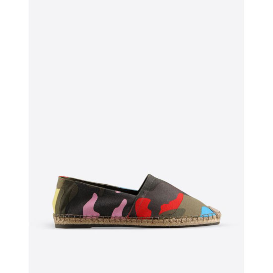 VALENTINO CAMOUFLAGE ESPADRILLES IW2S0172TPCA12 Outlet Online
