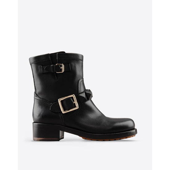 VALENTINO BIKER BOOT WITH STUDS HWS00405-AVM901 0NO Outlet Online