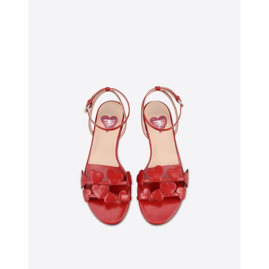 "VALENTINO VALENTINO GARAVANI ""L\'AMOUR\"" SANDAL JW3S0914CCC 0RO Outlet Online"