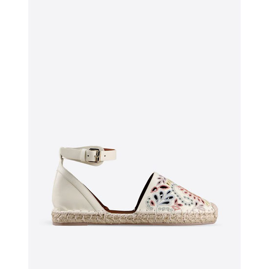 VALENTINO CALFSKIN LEATHER ESPADRILLES IW0S0847CRE I16 Outlet Online