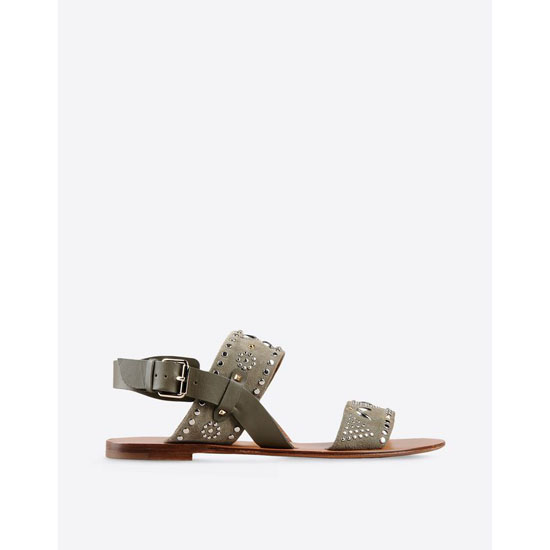 VALENTINO MICROSTUDS FLAT SANDAL IW2S0765CA0 Y20 Outlet Online