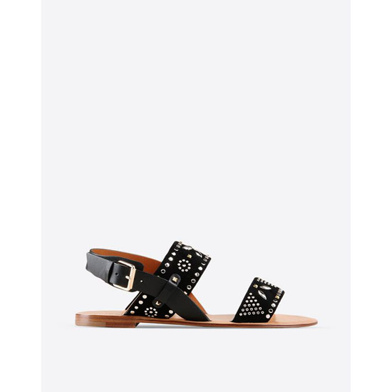 VALENTINO MICROSTUDS FLAT SANDAL IW2S0765CA0 0NO Outlet Online