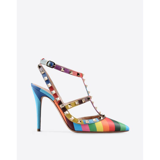 VALENTINO ROCKSTUD 1973 ANKLE STRAP IW2S0393VNY M12 Outlet Online