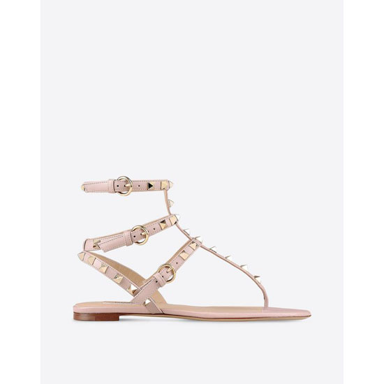 VALENTINO ROCKSTUD FLAT SANDAL IW2S0812VOD P45 Outlet Online