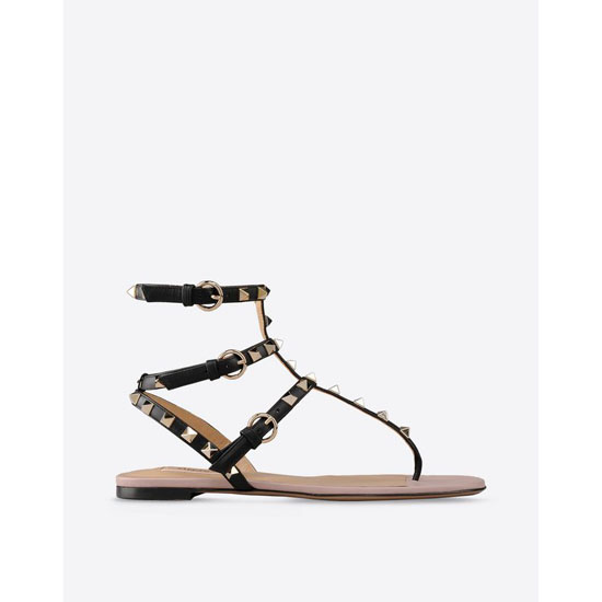 VALENTINO ROCKSTUD FLAT SANDAL GWS00812-AVOD01 0NO Outlet Online