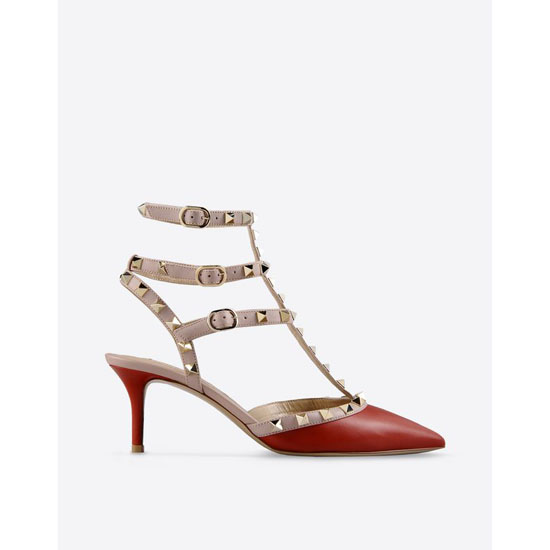 VALENTINO ROCKSTUD ANKLE STRAP FWS00375-AVOD01 0RO Outlet Online