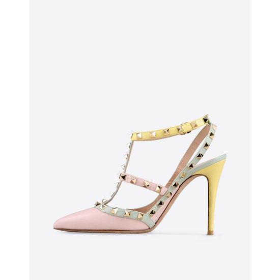 VALENTINO WATERCOLOR ROCKSTUD ANKLE STRAP IW0S0393WST W36 Outlet Online